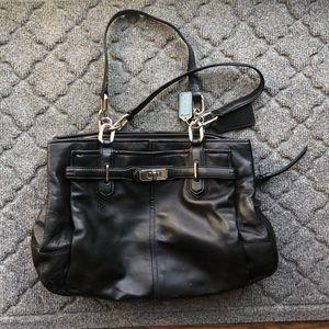 Women's Black Coach Shoulder Bag